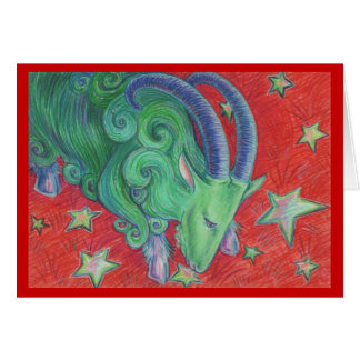 Zodiac Capricorn greetings card