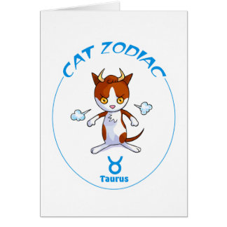 Zodiac Cat Taurus Cards