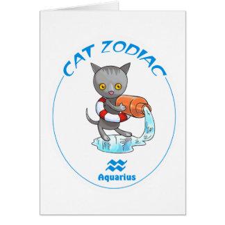 Zodiac Cats Aquarius Note Card