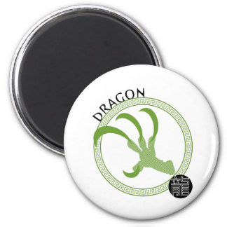 Zodiac Dragon 6 Cm Round Magnet