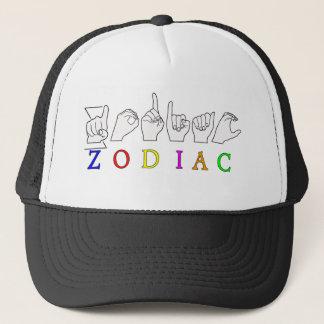 ZODIAC FINGERSPELLED ASL NAME  SIGN TRUCKER HAT
