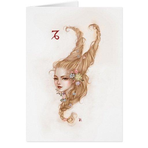 Zodiac Girl Greeting Card: Capricorn