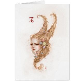 Zodiac Girl Greeting Card: Capricorn Greeting Card