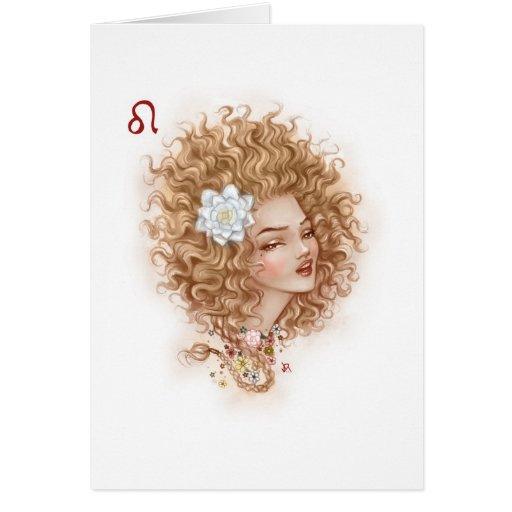 Zodiac Girl Greeting Card: Leo