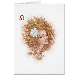 Zodiac Girl Greeting Card: Leo Greeting Card