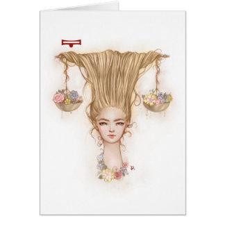 Zodiac Girl Greeting Card: Libra Greeting Card