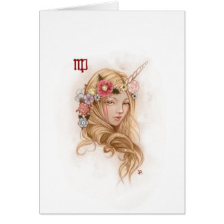 Zodiac Girl Greeting Card: Virgo Card