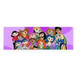 Zodiac Girlz Group Profile Card Business Card Templates
