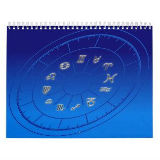 Zodiac golden signs calendar