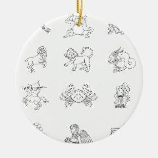Zodiac horoscope astrology signs ornaments