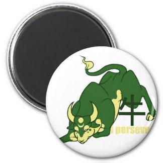 Zodiac- I persevere - Ox 6 Cm Round Magnet