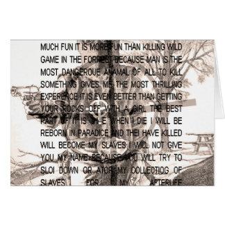 Zodiac killer card