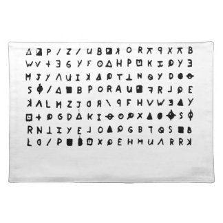Zodiac killer placemat