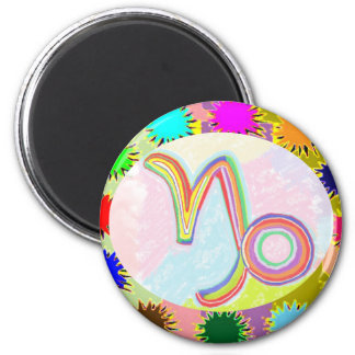 ZODIAC Labels, Decorations, Paper Craft Greeting 6 Cm Round Magnet