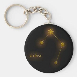 Zodiac - Libra Basic Round Button Key Ring
