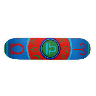 Zodiac Libra Birth Sign Astrological Skateboard