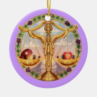 Zodiac Libra - Customize it! Round Ceramic Decoration