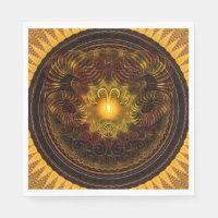 Zodiac Mandala Aries Luncheon Paper Napkins