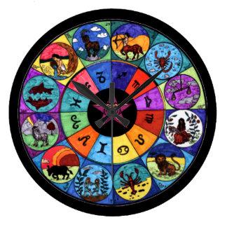 Zodiac Mandala Round (Large) Wall Clock