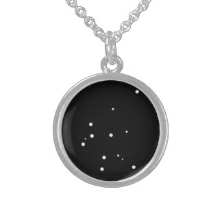 Zodiac Necklace: Aquarius Sterling Silver Necklace