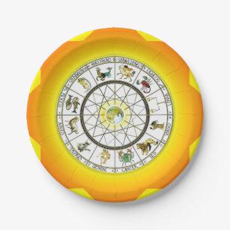 Zodiac paper plate