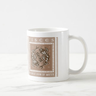 Zodiac Pisces Basic White Mug