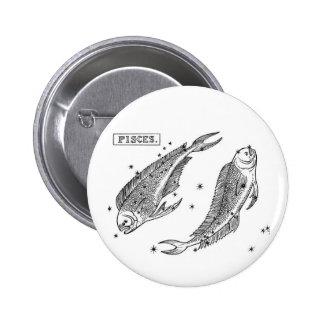 Zodiac Pisces Button