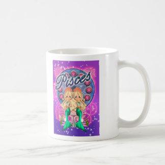 Zodiac Pisces Cute Mermaid Mug