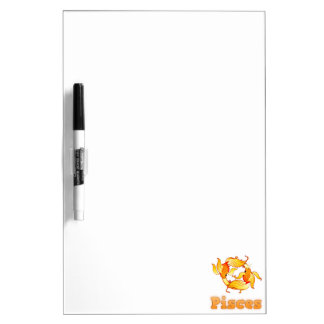 Zodiac Pisces illustration Dry Erase Board