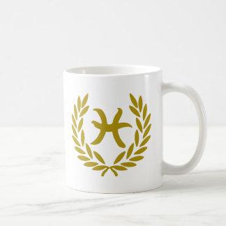 zodiac-pisces-laurel coffee mugs