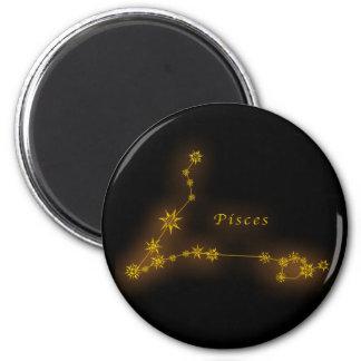 Zodiac - Pisces 6 Cm Round Magnet