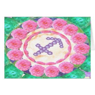 Zodiac SAGITTARIUS Art and Thank You Text Greeting Card