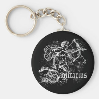 Zodiac Sagittarius Basic Round Button Key Ring