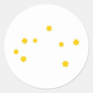 zodiac-sagittarius classic round sticker
