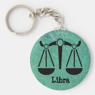 Zodiac Scale Symbol Libra Horoscope Jade Key Chain