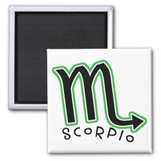Zodiac Scorpio Square Magnet Magnets