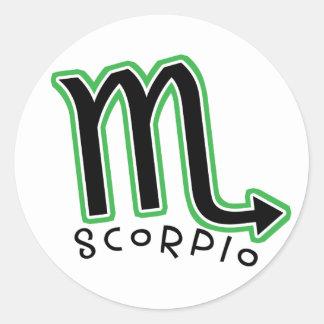 Zodiac Scorpio stickers