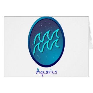 Zodiac sign Aquarius Greeting Card