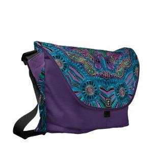 Zodiac Sign Aquarius Mandala Courier Bags