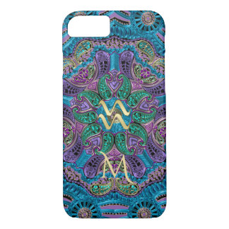 Zodiac Sign Aquarius Mandala iPhone 8/7 Case