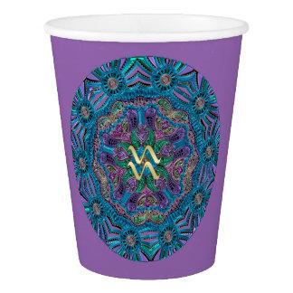 Zodiac Sign Aquarius Mandala Paper Cup