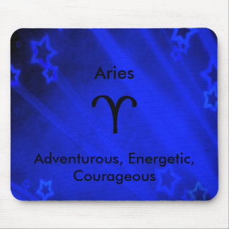 Zodiac Sign: Aries Mouse Pad