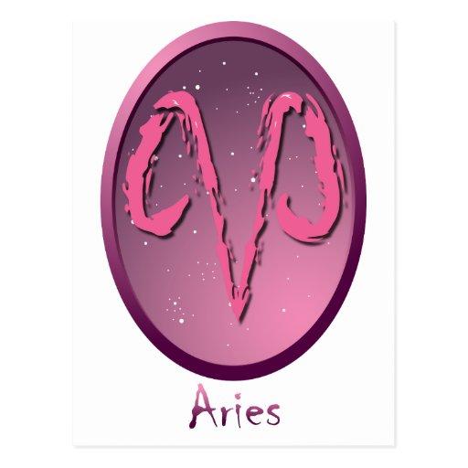 Zodiac sign Aries Post Card