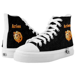 Zodiac sign Aries Printed Shoes