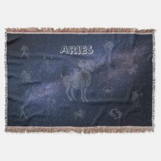 Zodiac sign Aries Throw Blanket