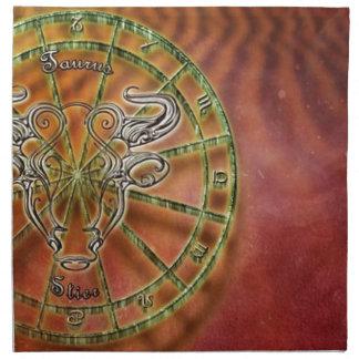zodiac sign bull- napkin
