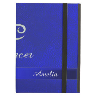 Zodiac Sign Cancer Blue Leather Look iPad Air Case