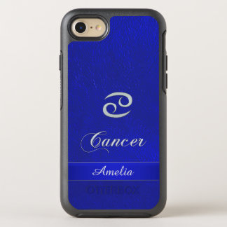 Zodiac Sign Cancer Blue Leather Look OtterBox Symmetry iPhone 7 Case