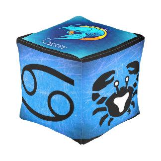 Zodiac Sign Cancer, Crab Symbol Horoscope Pouf