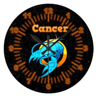 Zodiac sign Cancer Large Clock